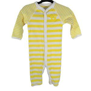 🍒3/$20🍒 CARTERS Yellow Striped Ducky Bum PJs 6m